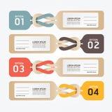 Pappers- prislappalternativnummer stock illustrationer