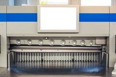Pappers- produktion industriella Machi för tryck för beskäraremaskinbräm royaltyfri foto
