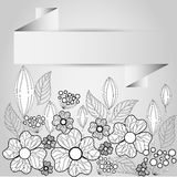 Pappers- ram av blomman royaltyfri illustrationer