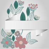 Pappers- ram av blomman stock illustrationer