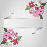 Pappers- ram av blomman vektor illustrationer
