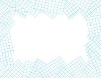 Pappers- ram. Illustration Royaltyfri Fotografi
