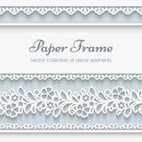 Pappers- ram med dekorativa gränser Royaltyfria Foton