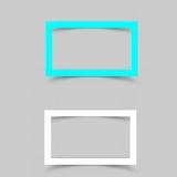 Pappers- ramskugga vektor illustrationer