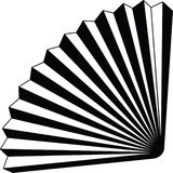 Pappers- resizable redigerbar vektor för fanorigamesymbol fullständigt i svart färg Stock Illustrationer