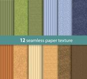 Pappers- sömlös vektortextur Arkivbilder