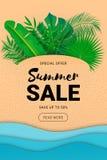 Pappers- sidor för sommarförsäljningsbaner stock illustrationer