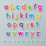 Pappers- små bokstäver Royaltyfria Foton
