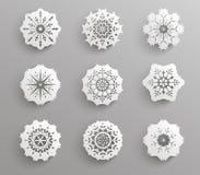 Pappers- snöflingasymbol Arkivbilder