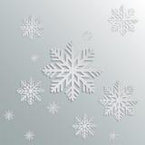 Pappers- snöflingor royaltyfri illustrationer