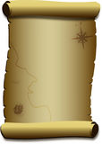 Pappers- snirkel för gammal parchment. Royaltyfria Bilder