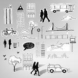 Pappers- stadsvektor Arkivfoton