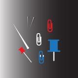 Pappers- stift vektor illustrationer