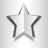 Pappers- stjärna för volym Arkivbild