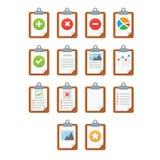 Pappers- symboler, dokumentsymbol, vektor EPS10 Royaltyfri Foto