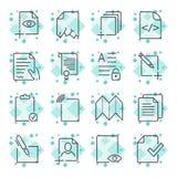 Pappers- symboler, dokumentsymboler, vektor EPS10 Redigerbar slagl?ngd vektor illustrationer