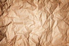 Pappers- textur av skrynkligt papper Royaltyfria Foton