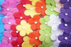 Pappers- textur för färgrika mångfärgade blommor för bakgrund royaltyfria bilder