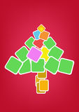 Pappers- Tree royaltyfri illustrationer