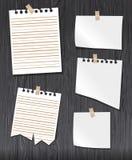 Pappers- uppsättningvektor Royaltyfri Fotografi