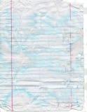 Pappers- urblekt, nedfläckad och sönderriven anteckningsbok royaltyfri foto