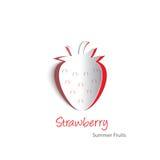 Pappers- utklipp för jordgubbe vektor illustrationer
