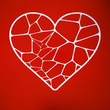 Pappers- utklippkort med hjärta. EPS 10 Fotografering för Bildbyråer