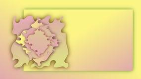 Pappers- v?gor blommar Rosa och gul bakgrund f?r sommarlutningbaner vektor illustrationer