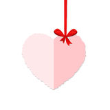Pappers- valentindagkort Royaltyfria Foton