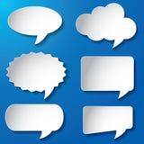 Pappers- vektor för tomma anförandebubblor Arkivfoton