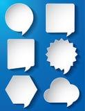 Pappers- vektor för tomma anförandebubblor Arkivfoto