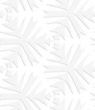 Pappers- vita pointy komplexa trefoils Royaltyfri Fotografi