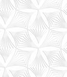 Pappers- vita pointy randiga trefoils Royaltyfri Fotografi