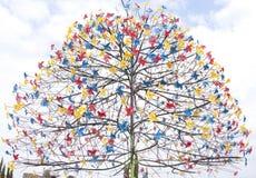 Pappers- windmilltree Royaltyfri Fotografi