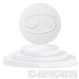 Pappers- zodiaktecken Cancer - astrologisk och horoskopsymbol på stock illustrationer
