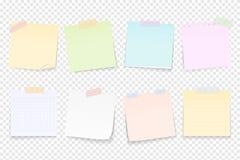 Pappersanmärkningar vektor illustrationer