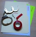 PAPPERSEXERCISöverkant - hemlig mapp och hemliga dokument Fotografering för Bildbyråer