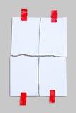pappersexercis för anmärkningspapper Arkivfoton