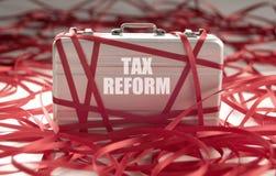Pappersexercis för skattreform arkivbild