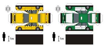Pappersmodeller av taxien Royaltyfri Bild