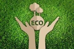 Papperssnitt av ecoen Arkivfoto