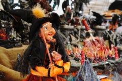 Pappet divertido de la bruja Fotografía de archivo libre de regalías