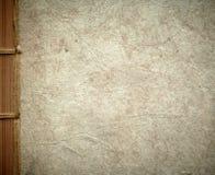 Papphandgemachte Abdeckung des Einklebebuchs. Stockfoto