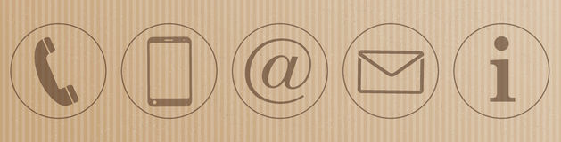Pappkontakt-Ikonen-Titel vektor abbildung
