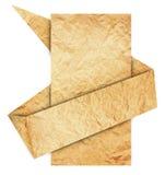 Papppapier in der origami Spracheluftblase Lizenzfreies Stockfoto