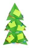 Pappweihnachtsbaum verziert mit Briefpapier Lizenzfreies Stockbild