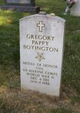 Pappy Boyingtons grave Stock Image