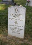 Pappy Boyingtons grave Stock Image