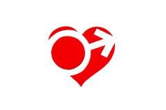 Pappzahl der Herzsymbolrede Die Symbolliebe der Liebe Stockbilder