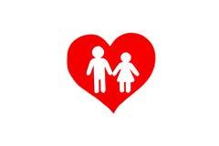 Pappzahl der Herzsymbolrede Die Symbolliebe der Liebe Lizenzfreies Stockfoto